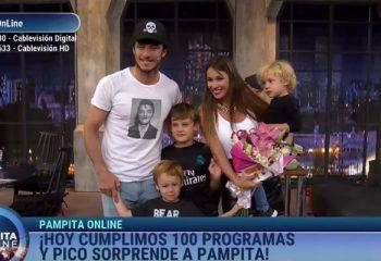 <i>Pampita Online</i> festejó sus 100 programas