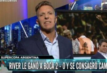 La furia de Alejandro Fantino por la derrota de Boca