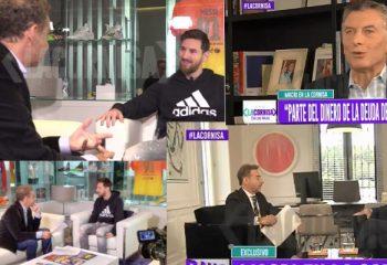 Mauricio Macri y Leonel Messi abrieron la nueva temporada de <i>La cornisa</i>