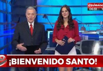 Santo Biasatti debutó en Crónica TV