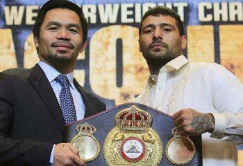 TNT Sports transmitirá la pelea entre Matthysse y Pacquiao