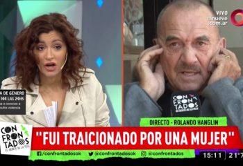 Rolando Hanglin maltrató a Carla Conte y lo sacaron del aire