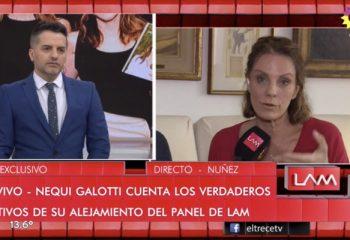 Nequi Galotti volvió a <i>LAM</i> para explicar por qué se alejó del programa
