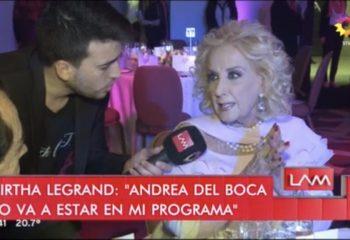 """""""Andrea del Boca no estará el domingo en mi programa"""""""