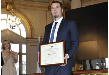 Sebastián Ortega, reconocido como Personalidad Destacada de la Cultura
